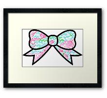 Lobstah roll preppy bow Framed Print