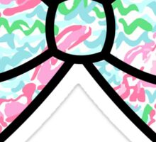 Lobstah roll preppy bow Sticker