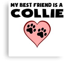 My Best Friend Is A Collie Canvas Print