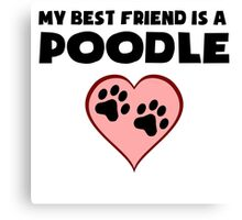 My Best Friend Is A Poodle Canvas Print