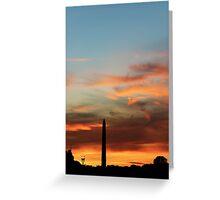 A Washington Sunset Greeting Card