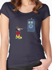 Sealing the TARDIS Women's Fitted Scoop T-Shirt