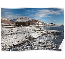 Embsay Crag In Winter Poster