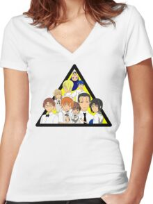 A Fun Place to Work! Women's Fitted V-Neck T-Shirt
