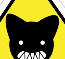 Warning! Biting Cat Sticker