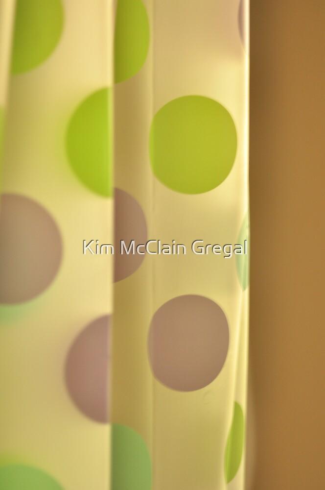 Polka Dot Curtain by Kim McClain Gregal