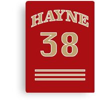 Hayne (curved) 38 Canvas Print