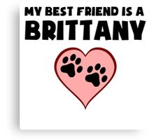My Best Friend Is A Brittany Canvas Print