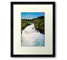 Haku Falls New Zealand Framed Print