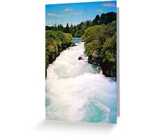 Haku Falls New Zealand Greeting Card