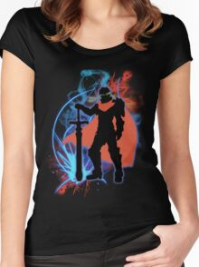 Super Smash Bros. Ike Silhouette Women's Fitted Scoop T-Shirt