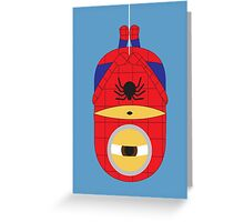 minions as spider man Greeting Card