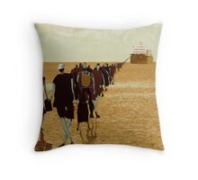 embarkation two Throw Pillow
