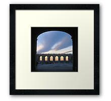 Sunset Through The Royal Palace Framed Print