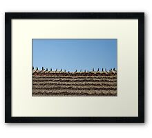 thatch roof background Framed Print