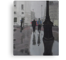 Reflections on The Mall Canvas Print