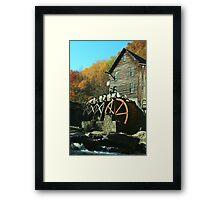 Glade Creek Grist Mill - Babcock State Park Framed Print