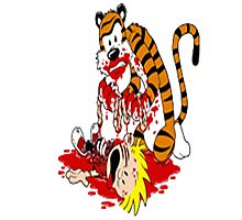 calvin and hobbes death Photographic Print