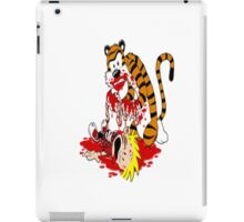 calvin and hobbes death iPad Case/Skin