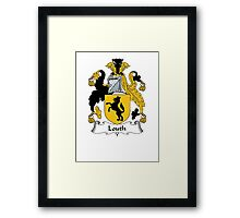 Coat of arms (family crest) for last-name or surname Louth . Heraldry banner for your name. Framed Print