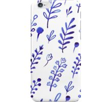 - Blue ink plants pattern - iPhone Case/Skin
