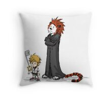 calvin and hobbes heroes Throw Pillow