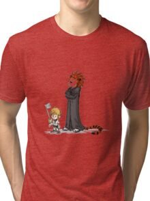 calvin and hobbes heroes Tri-blend T-Shirt