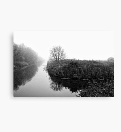 Foggy Fens Canvas Print