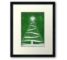 Green Christmas Framed Print