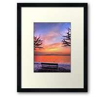 A Bench for Two Framed Print