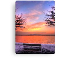 A Bench for Two Canvas Print