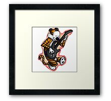 calvin and hobbes gitars Framed Print