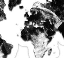World Map - Moon Crater Sticker