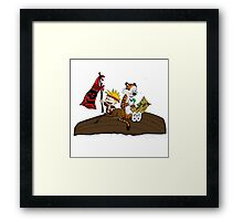 calvin and hobbes pirates Framed Print