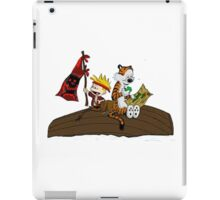 calvin and hobbes pirates iPad Case/Skin