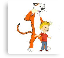 calvin and hobbes clip Canvas Print