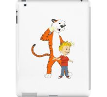 calvin and hobbes clip iPad Case/Skin
