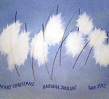 Scandinavian Christmas Card by Merja Waters