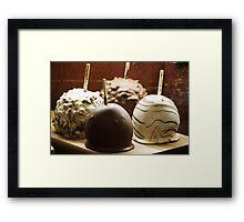 Chocolate Apples Framed Print