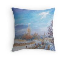 impression on a winter day Throw Pillow
