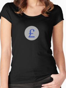 Pound Sterling Money Sticker Women's Fitted Scoop T-Shirt