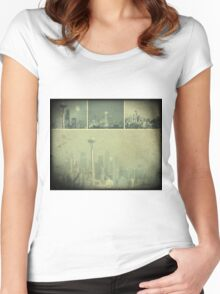 Grey Space Needle Women's Fitted Scoop T-Shirt