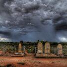 Silverton Cemetery Downpour by Rod Wilkinson