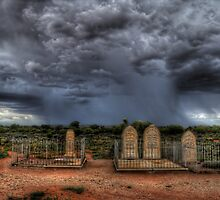 Silverton Cemetery Downpour by Rod Wilkinson