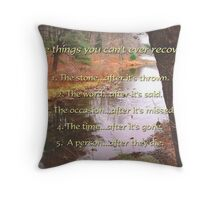 5 things - inspirational Throw Pillow