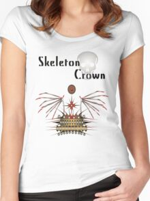 Skeleton Crown Women's Fitted Scoop T-Shirt