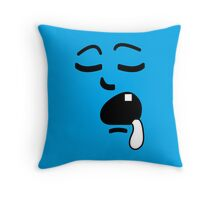 Barely Awake Throw Pillow
