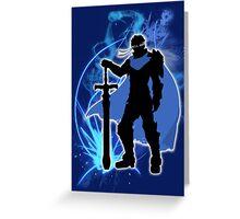 Super Smash Bros. Blue Ike Silhouette Greeting Card