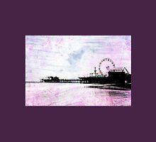 Santa Monica Pier Pink Grunge Womens Fitted T-Shirt