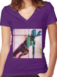 Body Language 20 Women's Fitted V-Neck T-Shirt